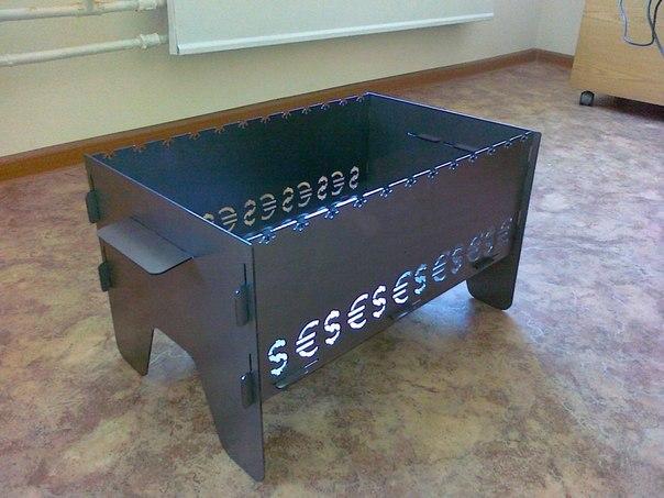 Как сделать мангал разборный из металла